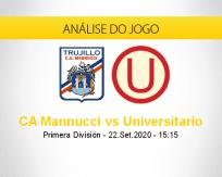 Prognóstico Carlos Mannucci Universitario (22 setembro 2020)