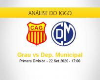 Prognóstico Atlético Grau Deportivo Municipal (22 setembro 2020)