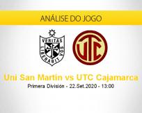Prognóstico Universidad San Martín UTC Cajamarca (22 setembro 2020)