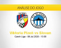Prognóstico Viktoria Plzen Slovan Liberec (08 julho 2020)