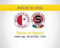 Prognóstico Slavia Praga Sparta Praga (08 julho 2020)