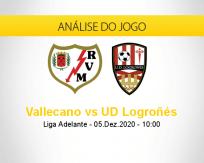 Prognóstico Vallecano UD Logroñés (05 dezembro 2020)