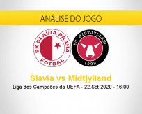 Prognóstico Slavia Praha Midtjylland (22 setembro 2020)
