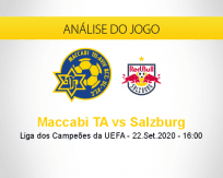 Prognóstico Maccabi Tel Aviv Salzburg (22 setembro 2020)
