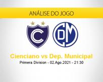 Prognóstico Cienciano Dep. Municipal (02 agosto 2021)