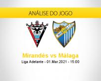 Prognóstico Mirandés Málaga (01 março 2021)