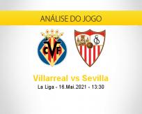 Prognóstico Villarreal Sevilla (16 maio 2021)