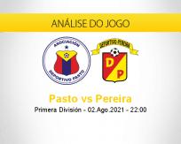 Prognóstico Pasto Pereira (02 agosto 2021)