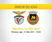 Prognóstico Benfica Rio Ave (01 março 2021)