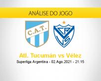 Prognóstico Atl. Tucumán Vélez (02 agosto 2021)