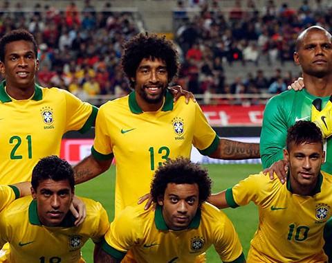 O Brasil de Neymar, Thiago SIlva e Fernandinho