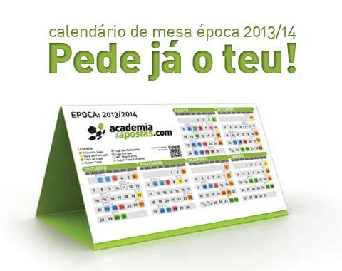 Oferta calendário da época 2013/2014