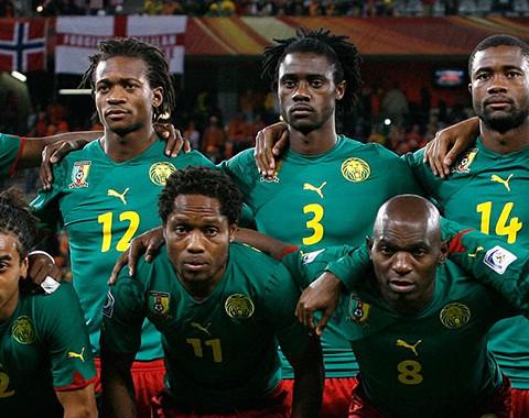 A Seleção dos Camarões de Alexandre Song, Achille Webo e Samuel Eto'o
