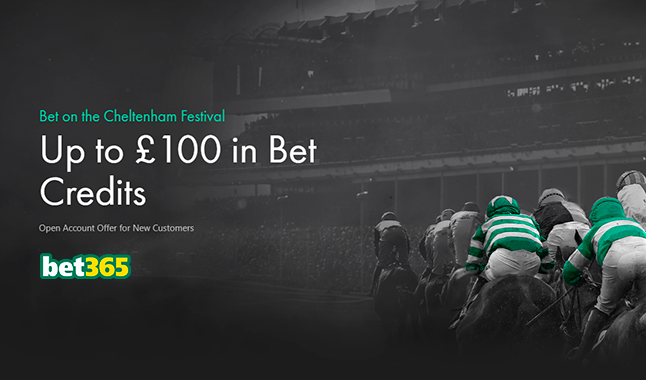 Up to £100 bet credits with Bet365 on the Cheltenham Festival!