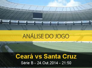 Análise do jogo: Ceará X Santa Cruz (24 Outubro 2014)