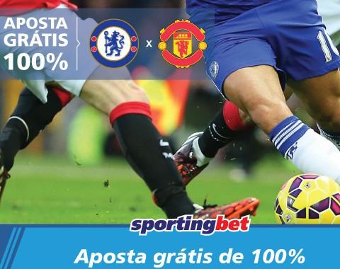 Chelsea x Manchester United: ambas as equipas marcam e tu ganhas uma aposta grátis