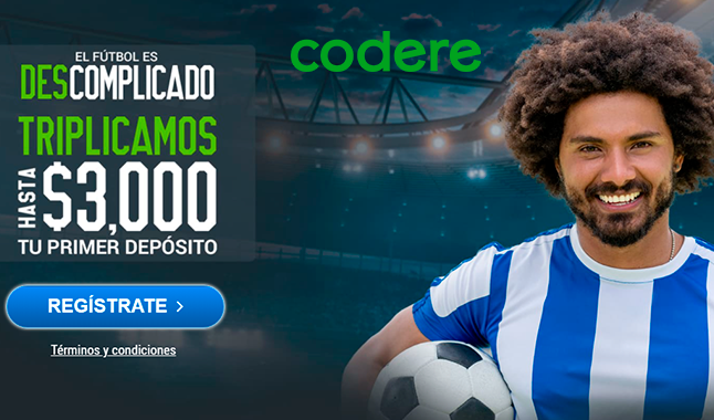 Codere: 200% hasta $3,000