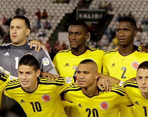 A Colômbia de Fredy Guarín, James Rodriguez e Jackson Martinez