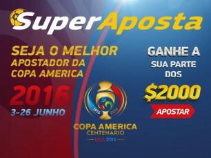 2000 euros de oferta SuperAposta na Copa América Centenário
