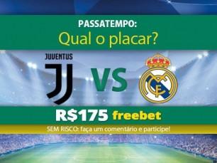 Ganhe 175 reais por acertar o placar da Juventus v Real Madrid