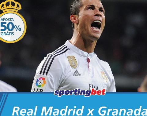 Real Madrid vs Granada: Cristiano Ronaldo marca e tu ganhas uma aposta grátis