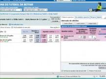 Demonstração de um trade no Under 2,5 usando apenas o site da Betfair