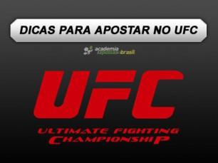 Dicas para apostar no UFC