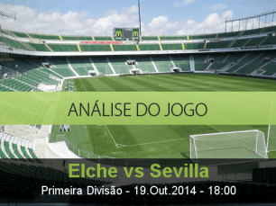 Análise do jogo: Elche vs Sevilha  (19 Outubro 2014)