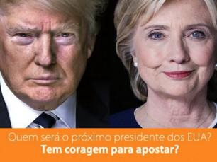 Trump ou Hillary? Queres ganhar dinheiro com o teu palpite?