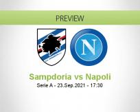 Sampdoria Napoli betting prediction (23 September 2021)