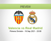 Valencia Real Madrid betting prediction (19 September 2021)