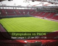 Olympiakos PAOK betting prediction (27 January 2021)