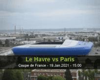 Le Havre Paris betting prediction (19 January 2021)
