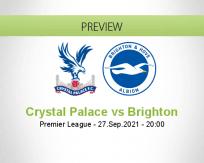 Crystal Palace Brighton betting prediction (27 September 2021)