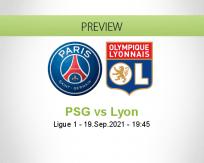 PSG Lyon betting prediction (19 September 2021)