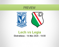 Lech Poznań Legia Warszawa betting prediction (30 May 2020)