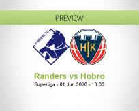 Randers Hobro betting prediction (01 June 2020)