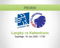 Lyngby København betting prediction (02 June 2020)