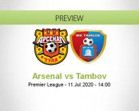 Arsenal Tula Tambov betting prediction (11 July 2020)