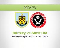 Burnley Sheffield United betting prediction (05 July 2020)
