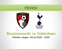 AFC Bournemouth Tottenham Hotspur betting prediction (09 July 2020)