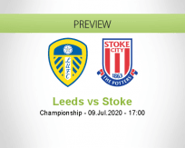 Leeds United Stoke City betting prediction (09 July 2020)