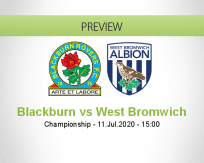 Blackburn Rovers West Bromwich Albion betting prediction (11 July 2020)