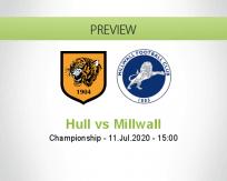 Hull City Millwall betting prediction (11 July 2020)