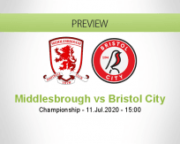 Middlesbrough Bristol City betting prediction (11 July 2020)