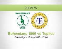 Bohemians 1905 vs Teplice