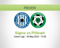 Sigma Olomouc Příbram betting prediction (30 May 2020)