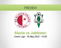 Slavia Praha Jablonec betting prediction (30 May 2020)