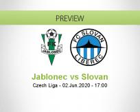 Jablonec Slovan Liberec betting prediction (03 June 2020)