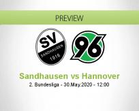 Sandhausen Hannover 96 betting prediction (30 May 2020)